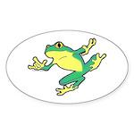 ASL Frog in Flight Oval Sticker