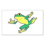 ASL Frog in Flight Rectangle Sticker