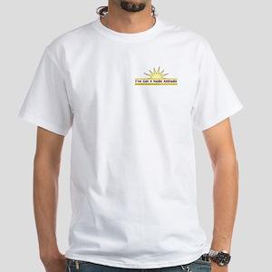 Nude Attitude - White T-Shirt