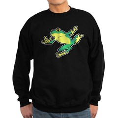 ASL Frog in Flight Sweatshirt (dark)