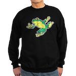 ASL Frog in Flight Sweatshirt (dark)