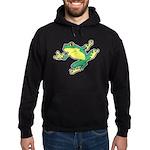 ASL Frog in Flight Hoodie (dark)