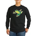 ASL Frog in Flight Long Sleeve Dark T-Shirt