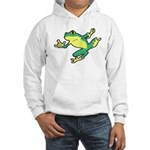 ASL Frog in Flight Hooded Sweatshirt