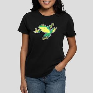 ASL Frog in Flight Women's Dark T-Shirt