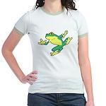 ASL Frog in Flight Jr. Ringer T-Shirt