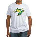 ASL Frog in Flight Fitted T-Shirt
