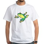 ASL Frog in Flight White T-Shirt