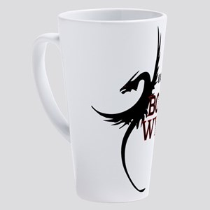 I am a Book Wyrm 17 oz Latte Mug