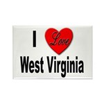 I Love West Virginia Rectangle Magnet (10 pack)