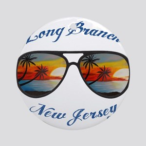 New Jersey - Long Branch Round Ornament