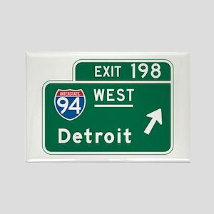 Detroit, MI Highway Sign Rectangle Magnet