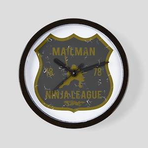 Mailman Ninja League Wall Clock