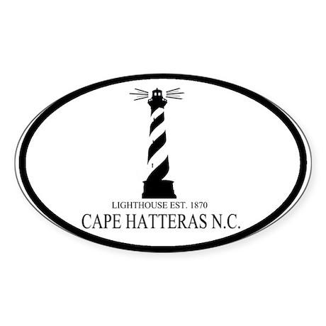 Cape Hatteras Lighthouse Oval Sticker