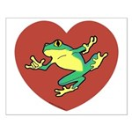 ASL Frog in Heart Small Poster