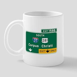 Corpus Christi, TX Highway Sign Mug