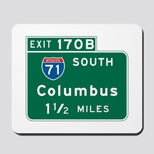 Columbus, OH Highway Sign Mousepad