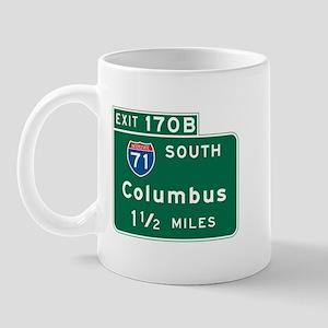 Columbus, OH Highway Sign Mug