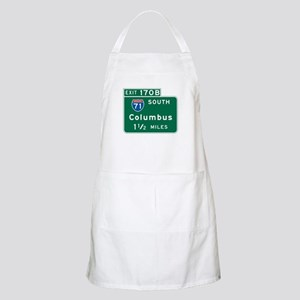 Columbus, OH Highway Sign BBQ Apron