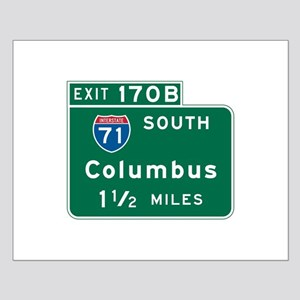 Columbus, OH Highway Sign Small Poster