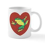 ASL Frog in Heart Mug