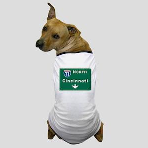Cincinnati, OH Highway Sign Dog T-Shirt