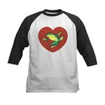 ASL Frog in Heart Kids Baseball Jersey