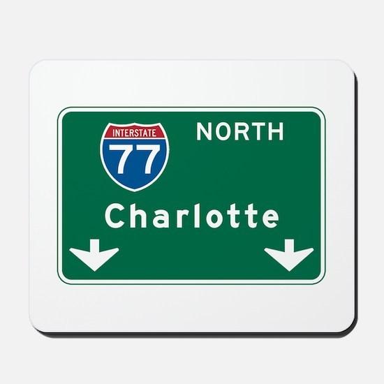 Charlotte, NC Highway Sign Mousepad