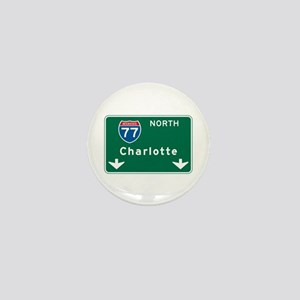 Charlotte, NC Highway Sign Mini Button