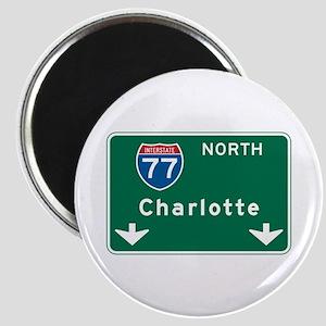 Charlotte, NC Highway Sign Magnet