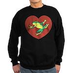 ASL Frog in Heart Sweatshirt (dark)