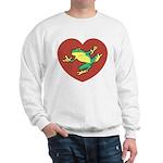 ASL Frog in Heart Sweatshirt