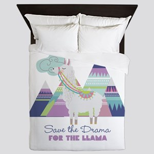 Save the Drama for the Llama Queen Duvet