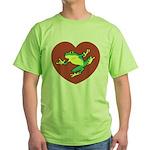 ASL Frog in Heart Green T-Shirt