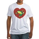 ASL Frog in Heart Fitted T-Shirt