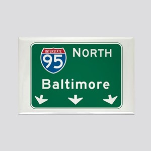 Baltimore, MD Highway Sign Rectangle Magnet