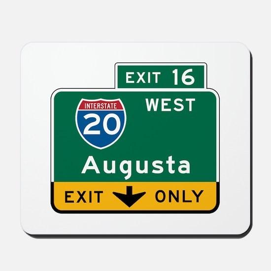 Augusta, GA Highway Sign Mousepad