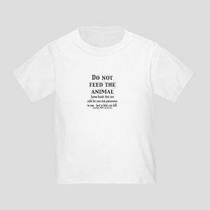 Toddler T-Shirt Do Not Feed