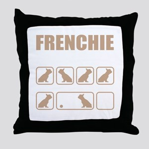 Stubborn Frenchie Tricks design Throw Pillow