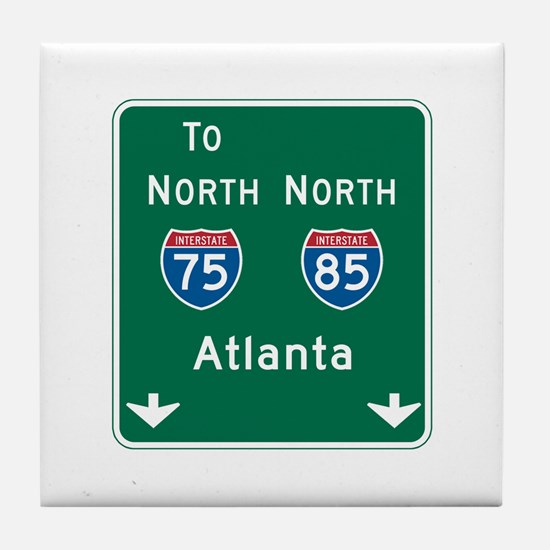 Atlanta, GA Highway Sign Tile Coaster