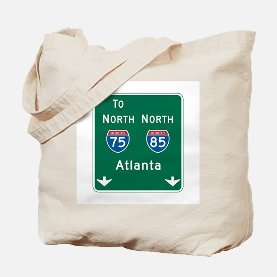 Atlanta, GA Highway Sign Tote Bag