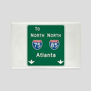 Atlanta, GA Highway Sign Rectangle Magnet