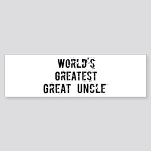 Worlds Greatest Great Uncle Bumper Sticker