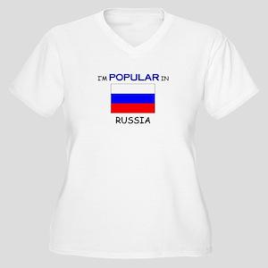 I'm Popular In RUSSIA Women's Plus Size V-Neck T-S