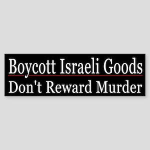 Boycott Israeli Goods - Sticker (Bumper)