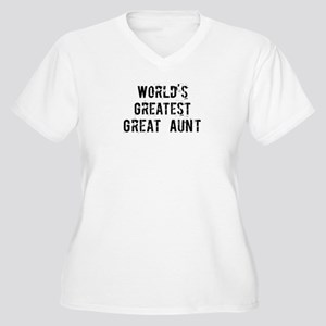 Worlds Greatest Great Aunt Women's Plus Size V-Nec