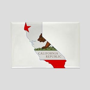 California Stripe Custom Desi Rectangle Magnet