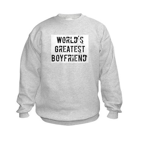Worlds Greatest Boyfriend Kids Sweatshirt