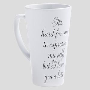 Pun 17 Oz Latte Mug