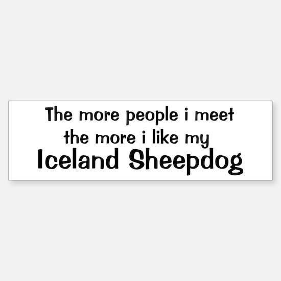 I like my Iceland Sheepdog Bumper Bumper Bumper Sticker